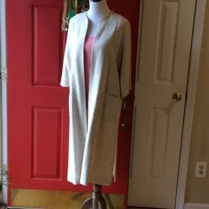 Jackets & Blazers - Gorgeous linen/silk ivory duster